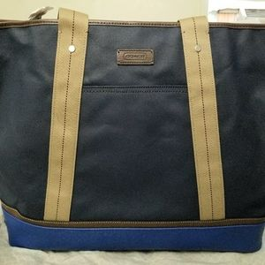 XXL Authentic Coach Weekender Tote bag (Blue)